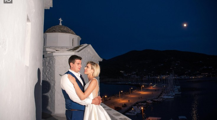 O ρομαντικός γάμος της Θάλειας και του Γιάννη στην ονειρική Σκόπελο!