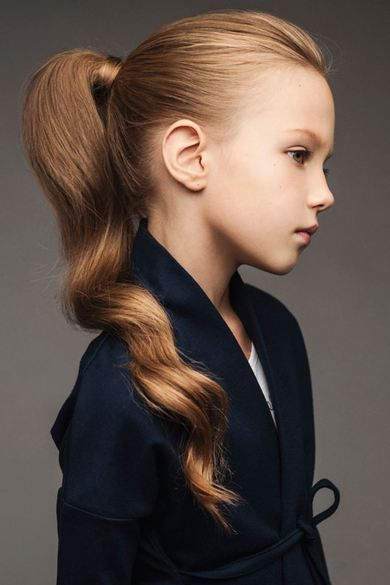Interesting hairstyles for the smallest