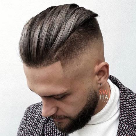 Men's haircut undercut