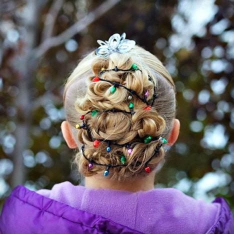 Тематические новогодние прически в садик и школу