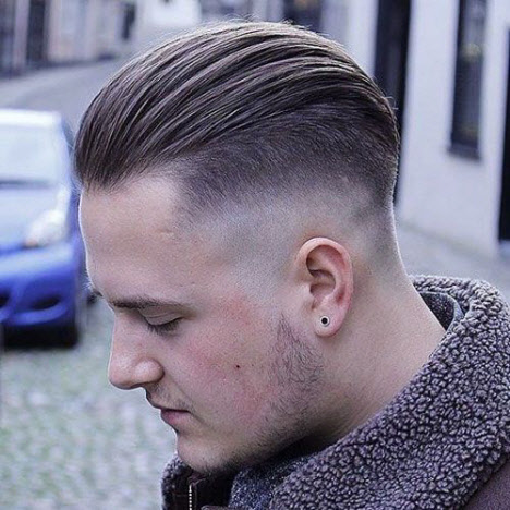 Men's haircut undercut: