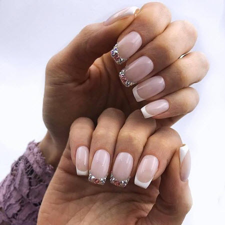Fashionable and original French manicure