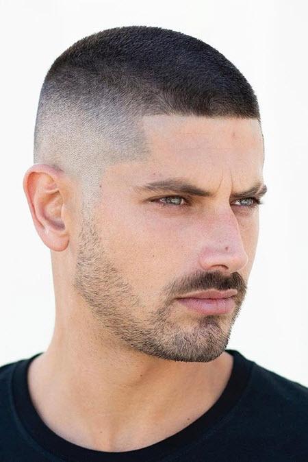 Courageous military haircut
