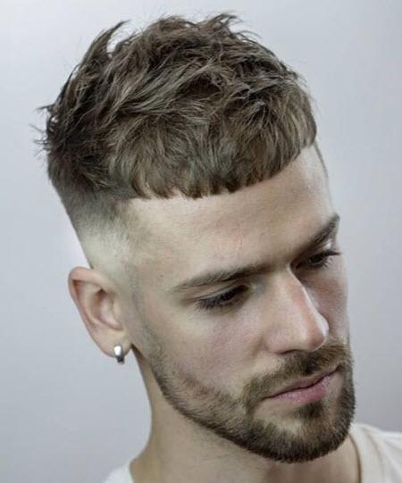 Men's haircut caesar