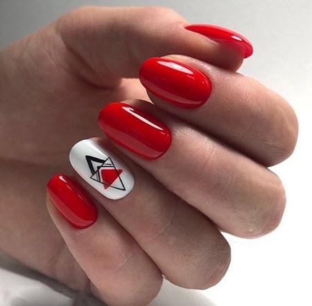Manicure vermelho