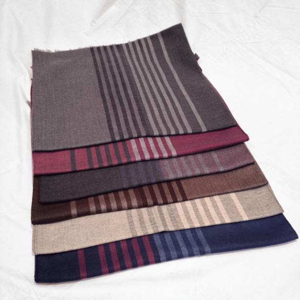 Striped Merino Wool Scarves
