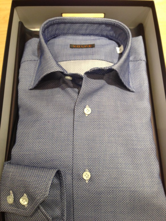 Dark Blue Open Weave Cotton Panama
