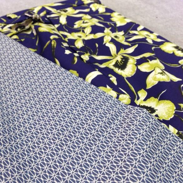Geometric design (100% cotton) and Floral design shorts (97% cotton / 3% lycra) - Close up