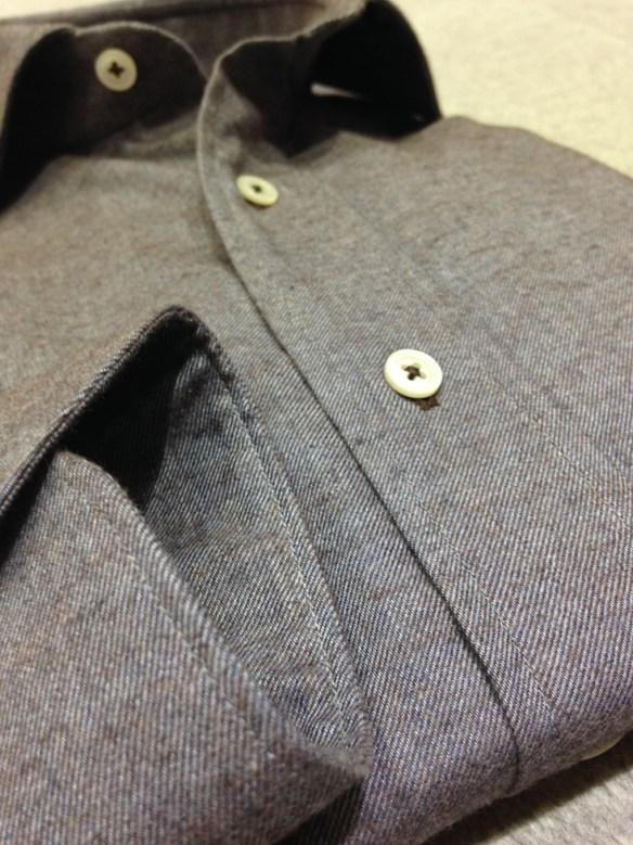 Grey & Brown Brushed cotton shirt