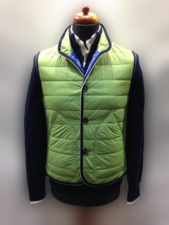 Light Green Nylon Micro Down Filled Gilet