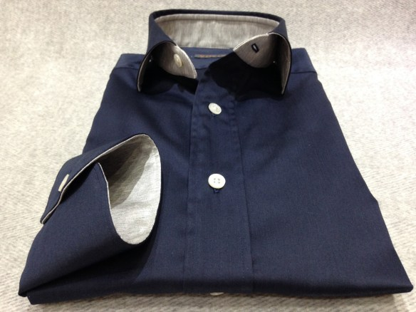 Navy Blue with Grey Jersey Detail