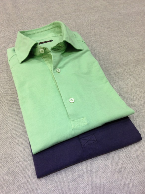 Green and Navy Blue Cotton T-Shirts