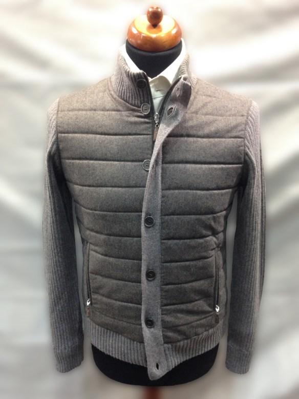 Light Brown Wool Blouson with Hollofil Lining