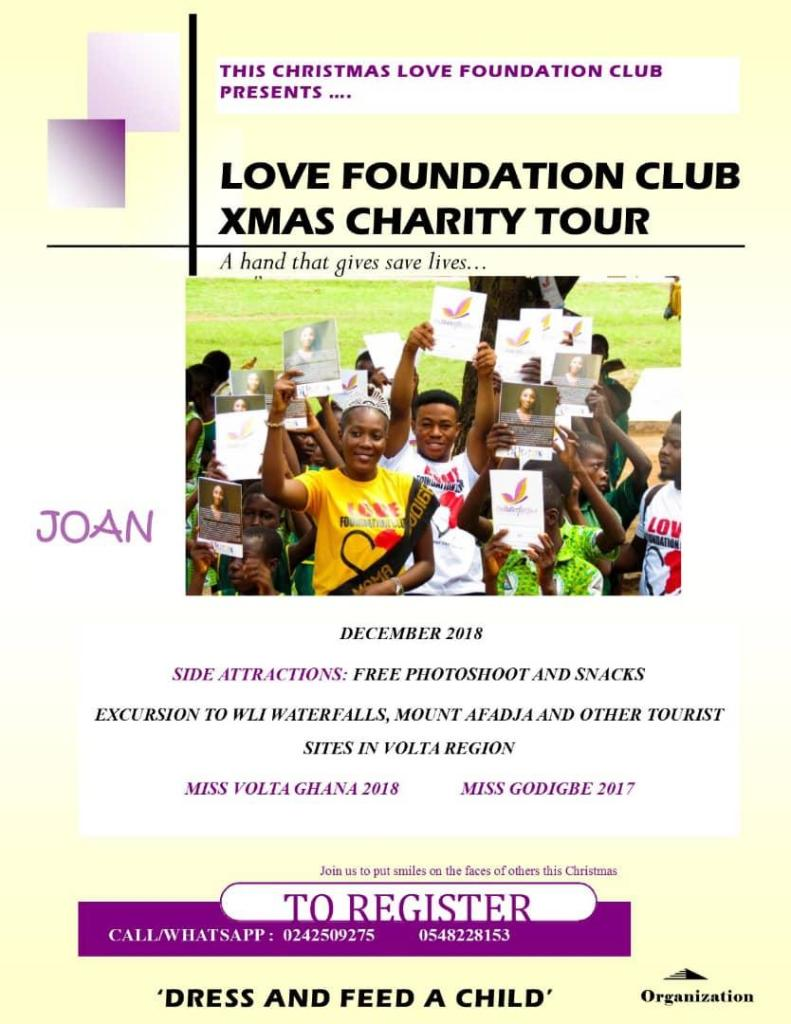 Joan with the love foundation club