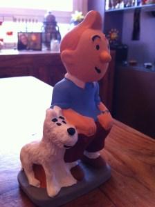 l'ultima incorporació al pessebre - en Tintin i el seu gos Milú
