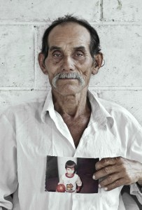 José Norberto Ayala Rosales, pare d'Elton Ademir Ayala Durán, desaparegut el 1981 a San Sebastián (San Vicente)