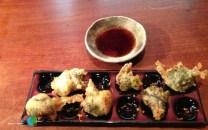 tempura de anemones de mar