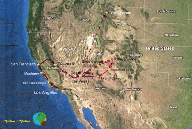 Voltar i Voltar - Viatge a l'Oest de Estats Units-imp