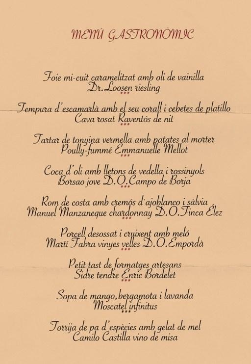 DIVINUM Menu degustacio amb maridatge de vins