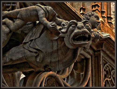 Gargola de la catedral de Barcelona