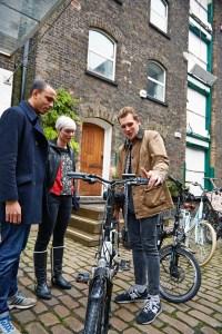 Demonstrating VOLT e-bikes