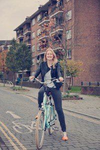 Lady sat on womens electric bike by VOLT