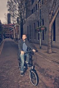 On the VOLT Metro folding electric bike