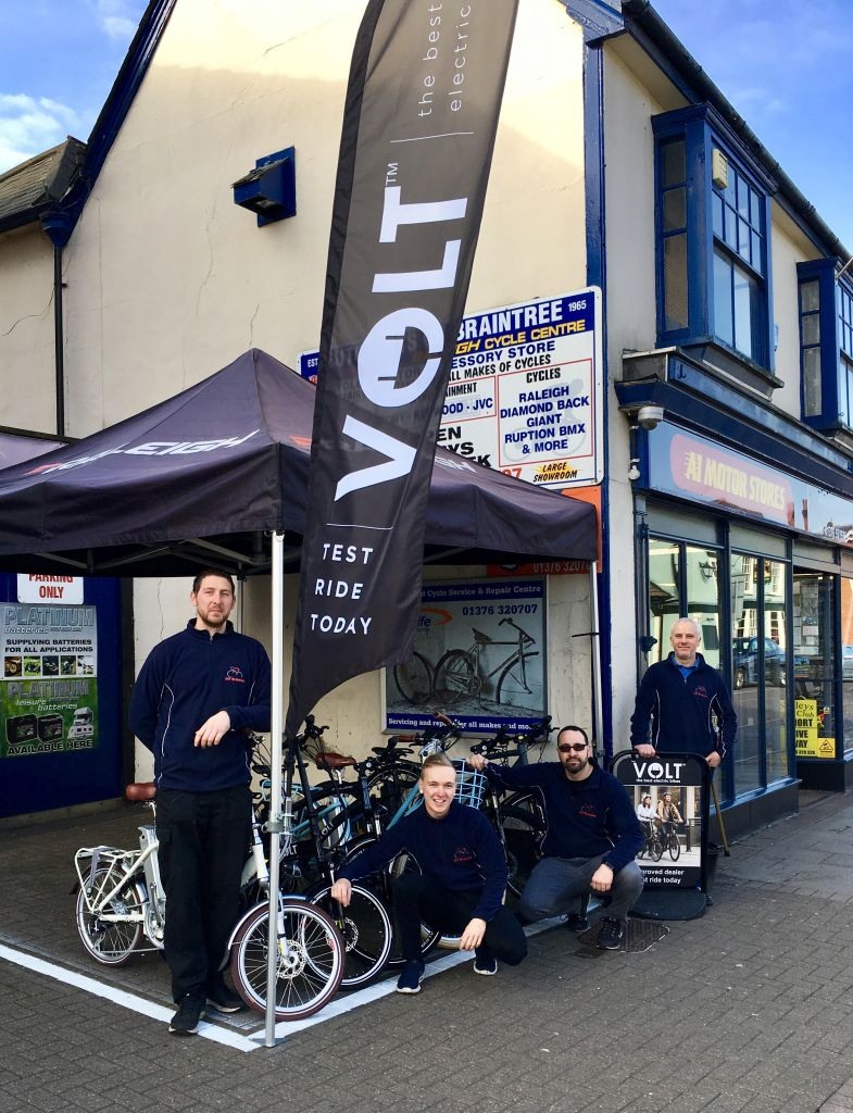 A1 Braintree team in front of their shop