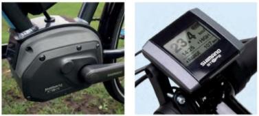 Shimano STEPS motor and display screen