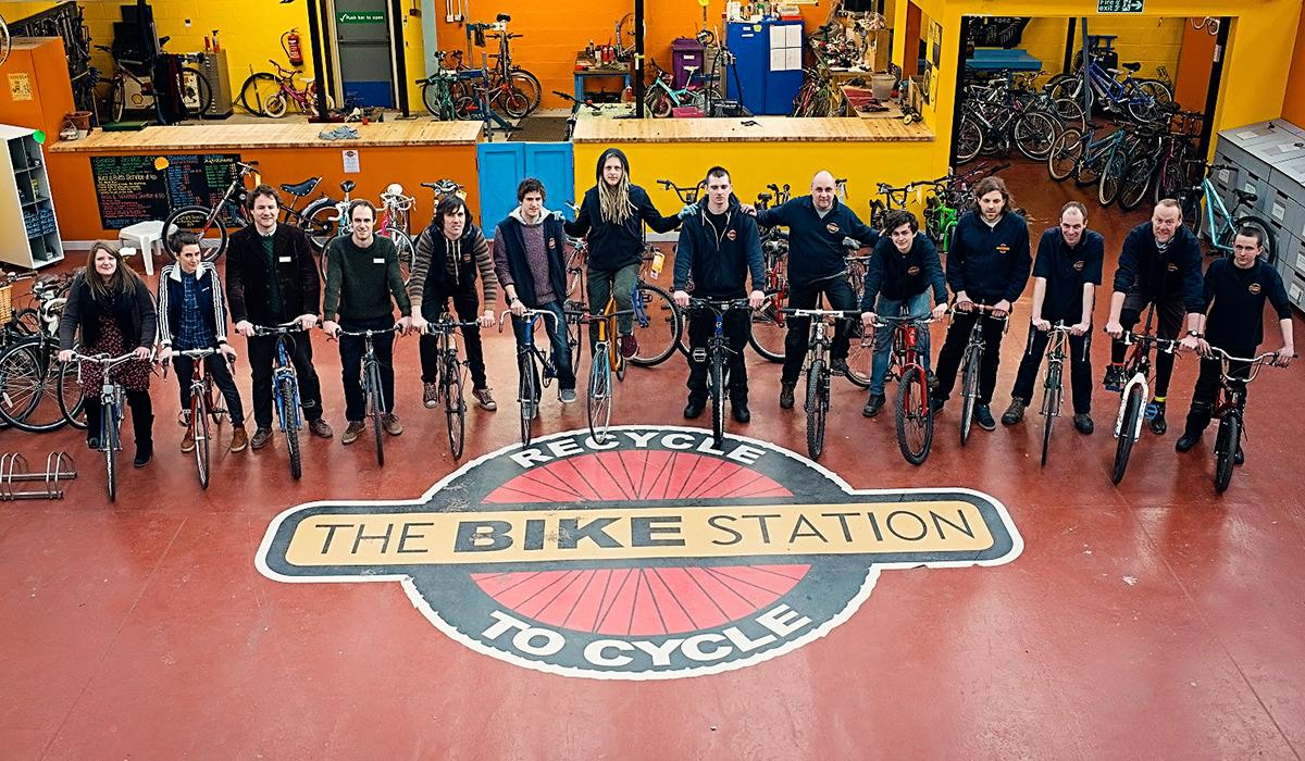 The Bike Station Glasgow Team Photo