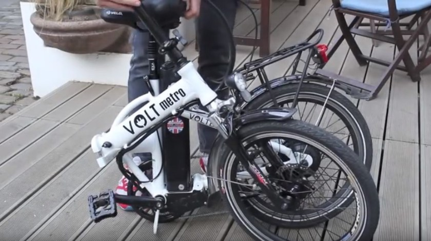 VOLT™ Metro Folding Electric Bike city demo