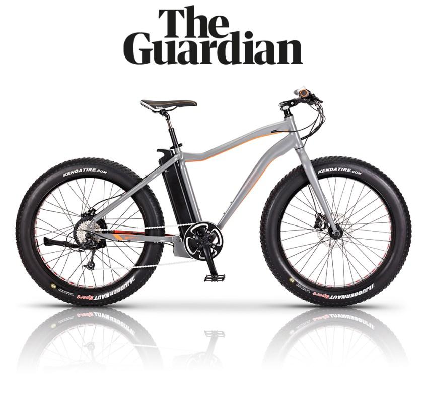 The Guardian features the VOLT Bigfoot fat tyre e-bike