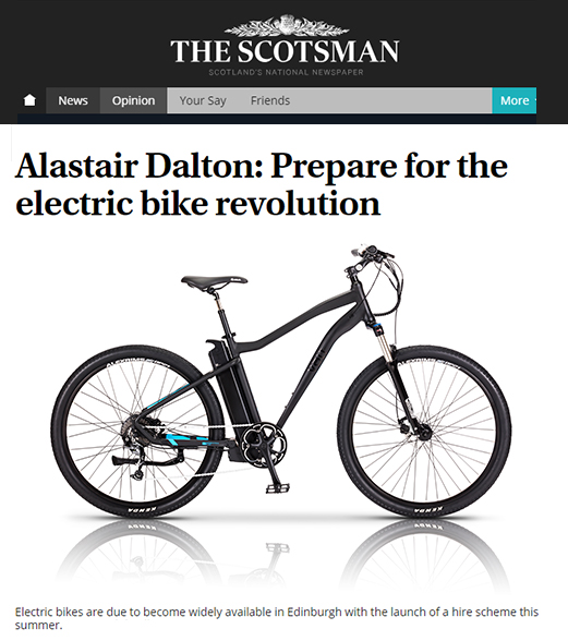 Alastair Dalton's article for The Scotsman features the VOLT Alpine