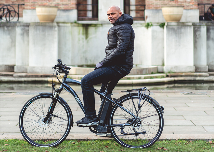 Marvin Rees on Volt Bike