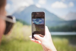 Taking a Photo of Mountains