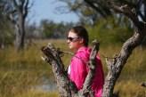 Priscila na savana em Botswana