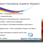 Sport volunteering academic research – Dr Fiona Reid and Dr Lindsay Findlay-King