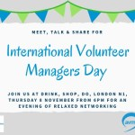 International Volunteer Managers Day Networking – London