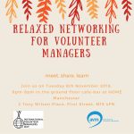 International Volunteer Managers Day Drinks – Manchester