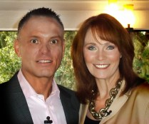 Kevin Harrington and me working on a web show