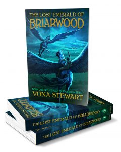The Lost Emerald of Briarwood Paperback Book Stack