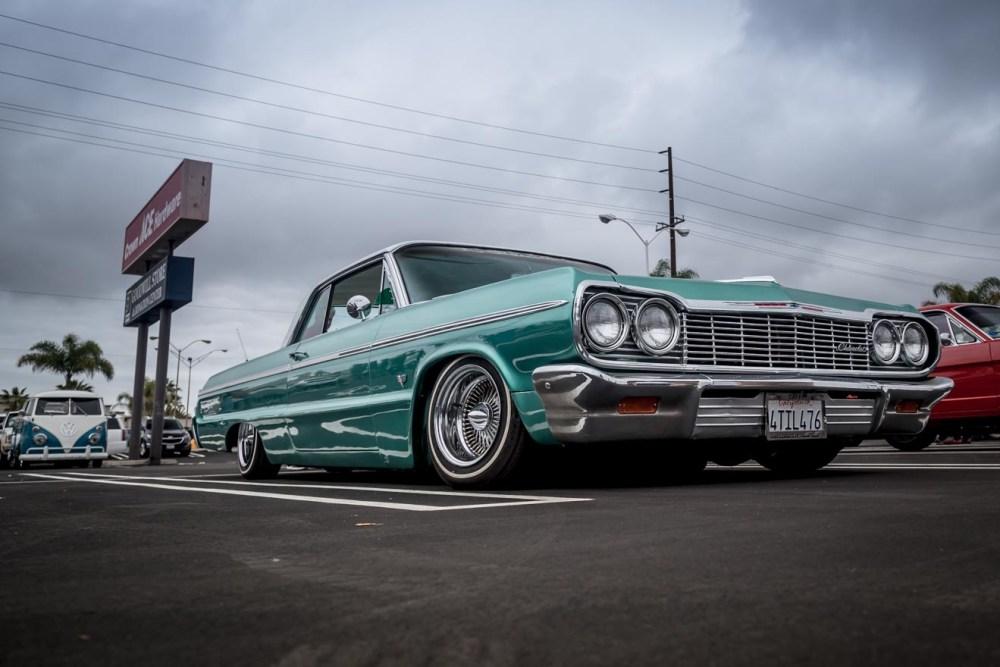Green 1964 Chevy Impala low rider