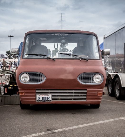 Ford Econoline pannel van parked at Long Beach