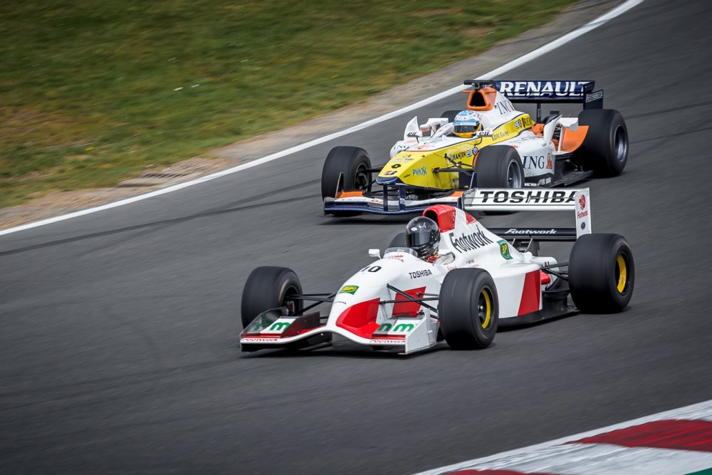 Historic F1 race cars