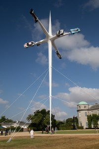7 pointed star sculpture, celebrating 70 years of Porsche