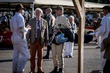 Paddock conversations, Goodwood Revival.