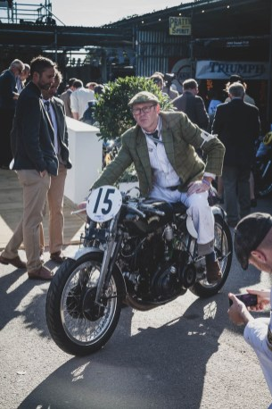 Smartly turned out 1950 Vincent Lightning, Goodwood Revival.