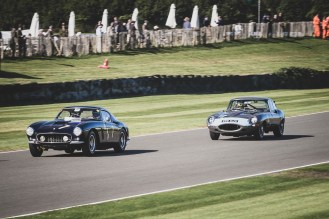 Ferrari v Jaguar, Lavant Straight, Goodwood Revival.