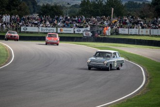 A little sideways action, Goodwood Revival.