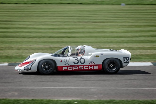 Serious Porche love for this 910, Goodwood Revival.